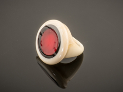 Ring Camee rood