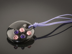 Ketting Bubble paars