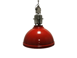 Industrie lamp Clinton rood