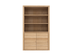 Kast Book Rack Shadow open eiken