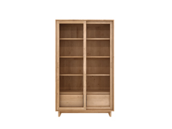 Kast Book Rack Wave eiken