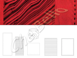 Placemat fine red